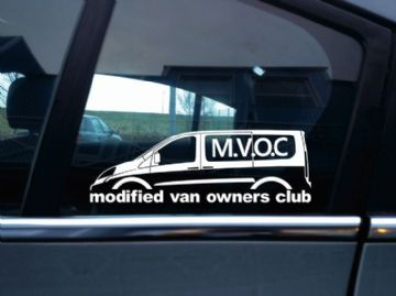 MVOC modified van owners club sticker - for Fiat Scudo 2nd gen SWB van (v3)